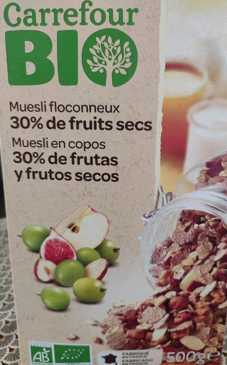 Muesli floconneux 30% fruits secs - Product - fr