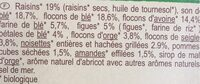 Muesli floconneux 30% fruits secs - Ingredients - fr