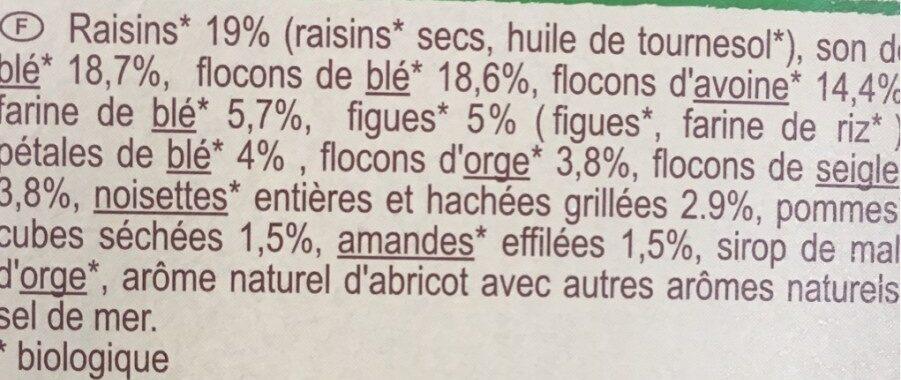 Muesli floconneux 30% fruits secs - Ingrédients - fr