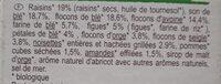 Muesli floconneux 30% fruits secs - Ingrediënten