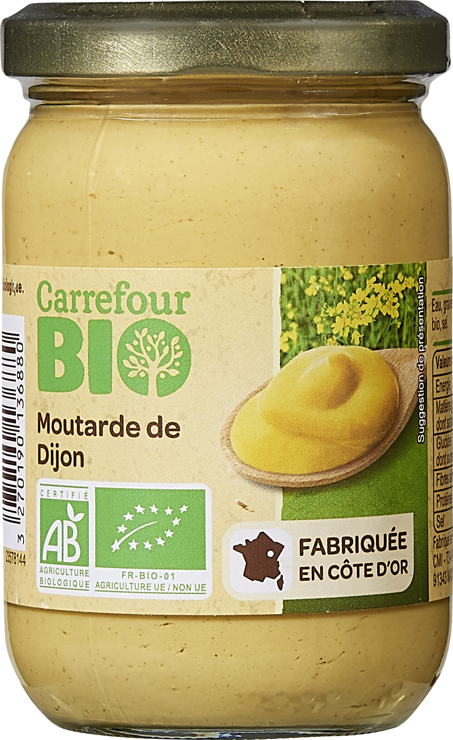 Moutarde de Dijon bio - Producto - fr