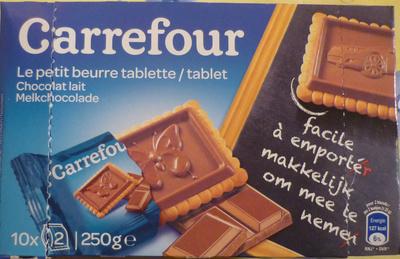 le petit beurre tablette chocolat lait carrefour 250 g. Black Bedroom Furniture Sets. Home Design Ideas