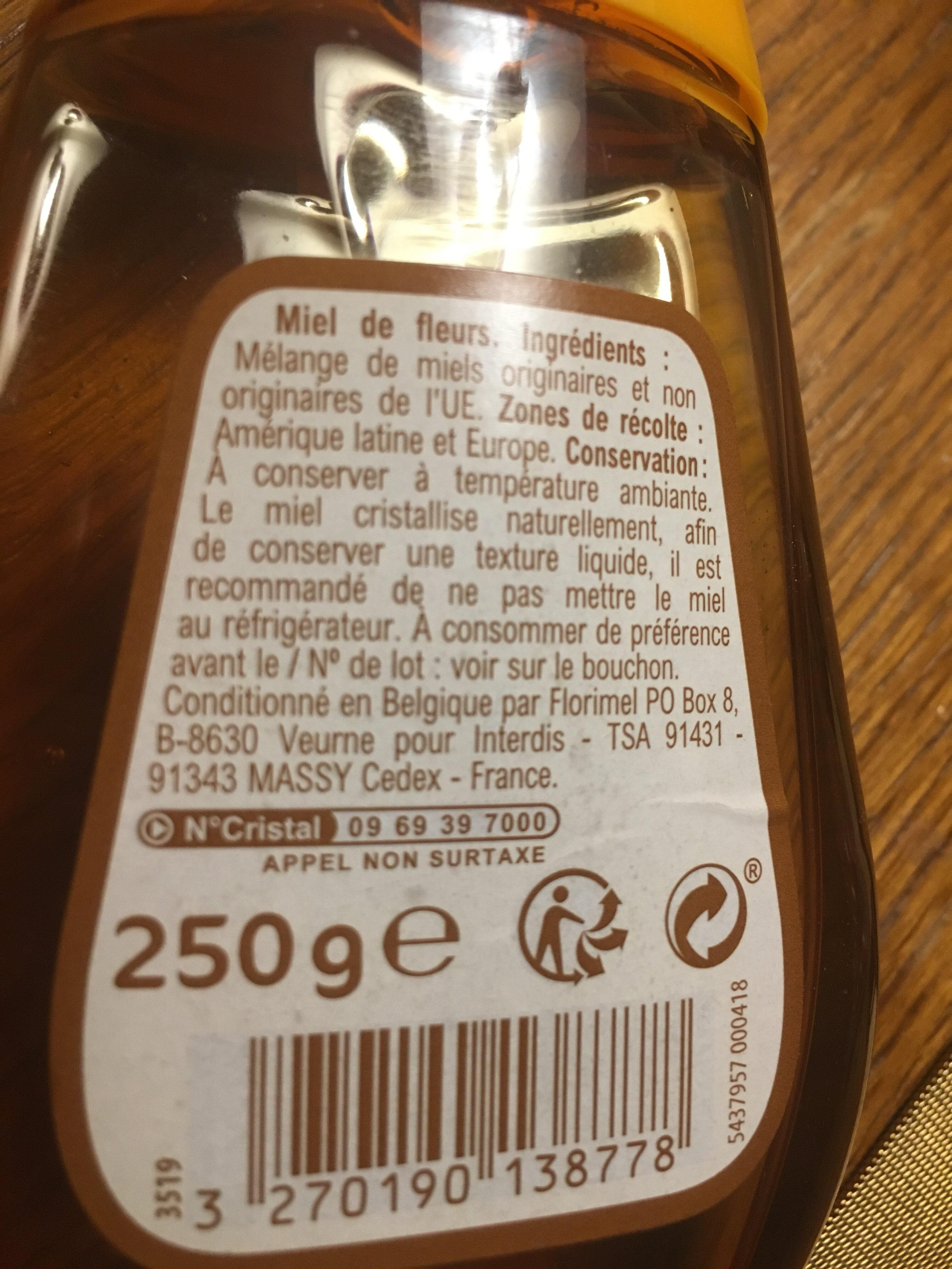 Miel de fleurs - Nutrition facts - fr