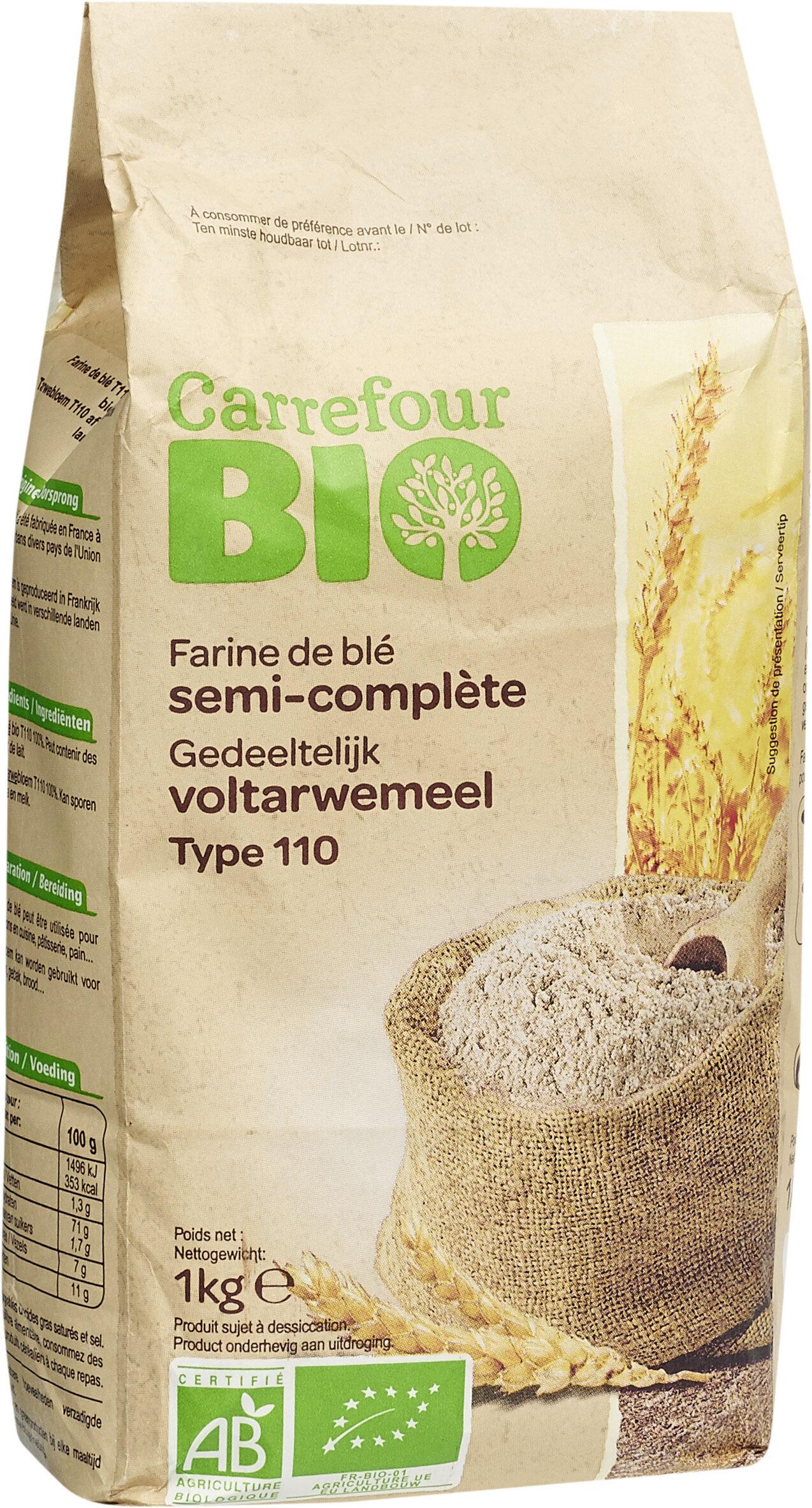 Farine de blé français semi-complète Type110 - Product - fr