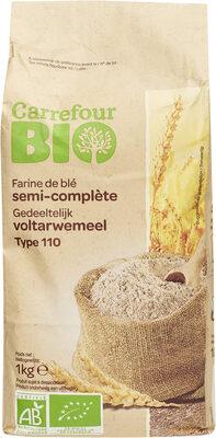 Farine de blé français semi-complète Type110 - Produit