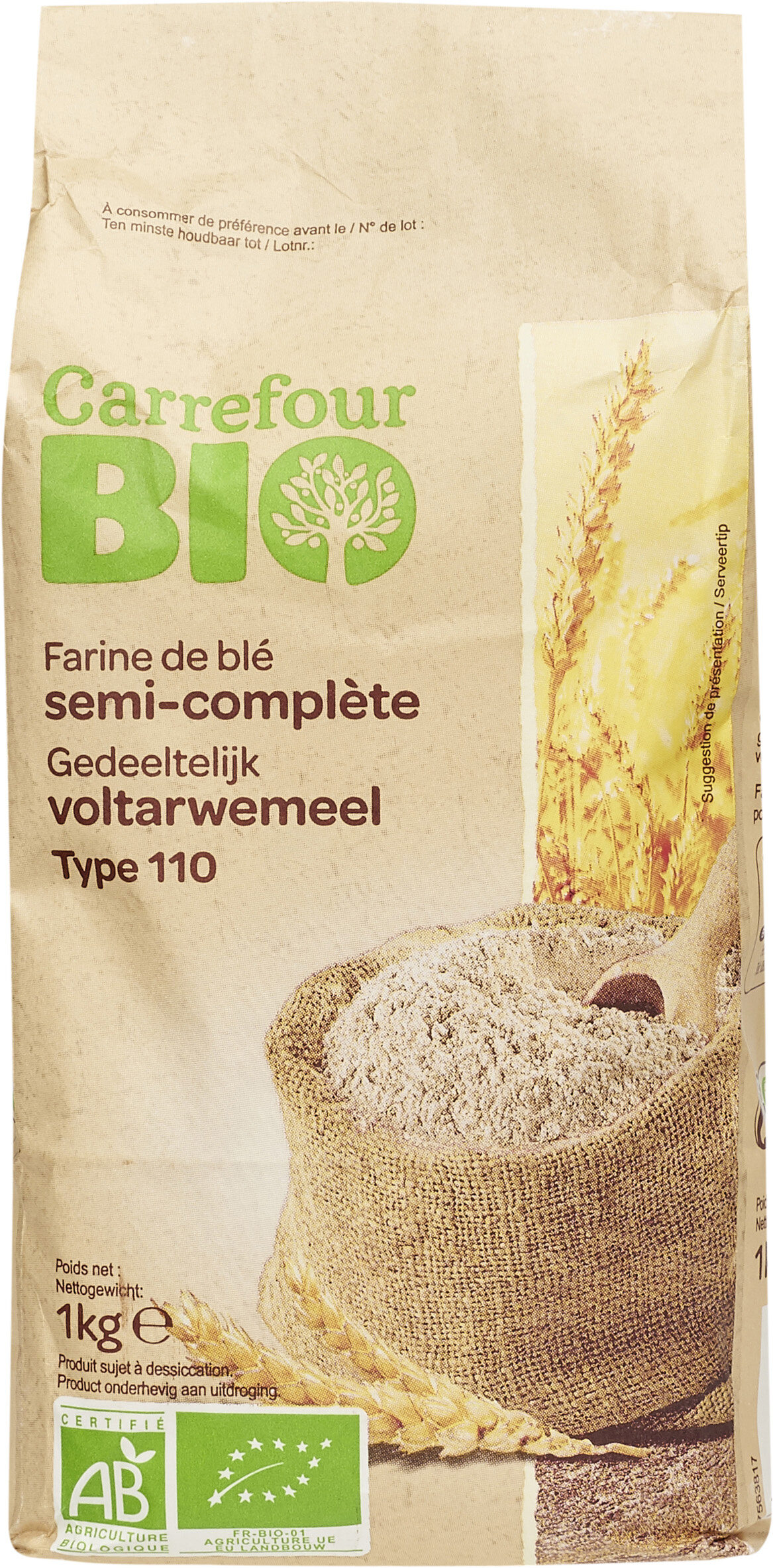 Farine de blé français semi-complète Type110 - Prodotto - fr