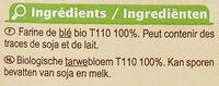 Farine de blé français semi-complète Type110 - Ingredients - fr