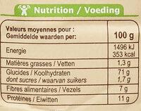 Farine de blé français semi-complète Type110 - Nutrition facts - fr