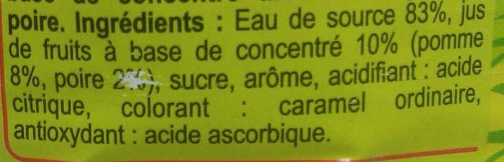 Saveur pomme poire - Ingrédients - fr