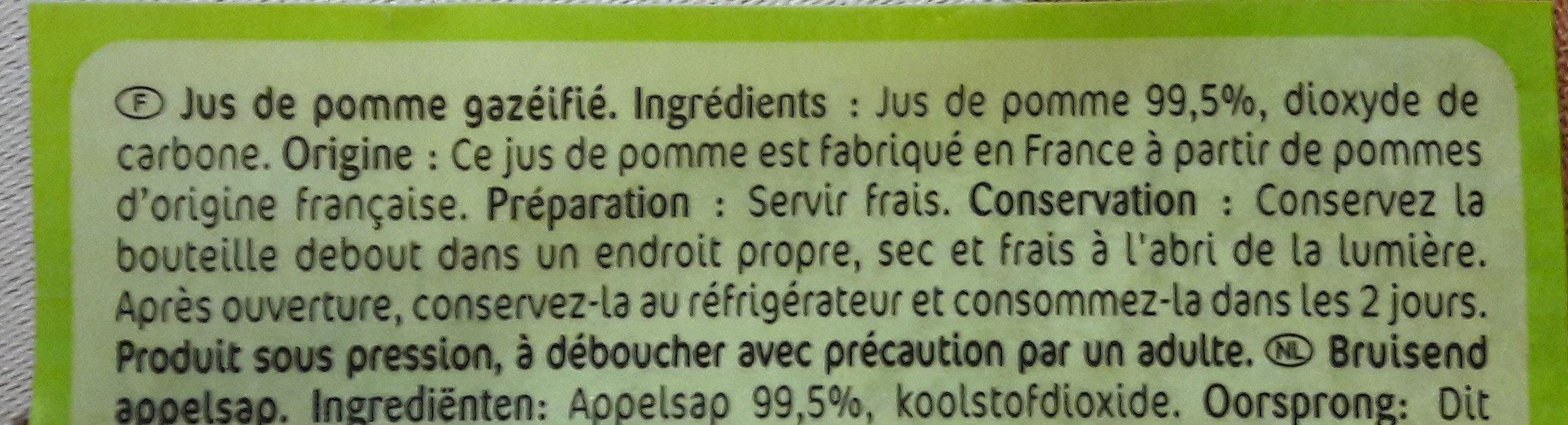 Fiestabul Jus de pomme pétillant - Ingrédients - fr