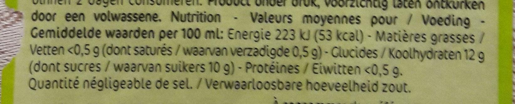 Fiestabul Jus de pomme pétillant - Informations nutritionnelles - fr