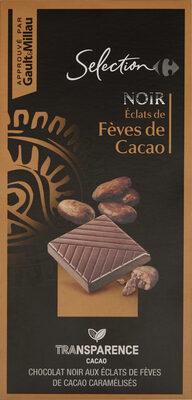Noir éclats defèves de cacao - Produit - fr