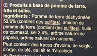 Pétales salés - Ingredients - fr
