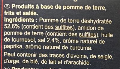 Pétales salés - Ingredientes - fr