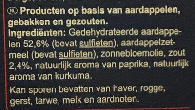 Pétales chips salés - Ingrediënten - nl