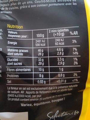 Chocolat noir 72% cacao - Ingrédients
