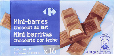 Mini barres Chocolat au lait - Producte