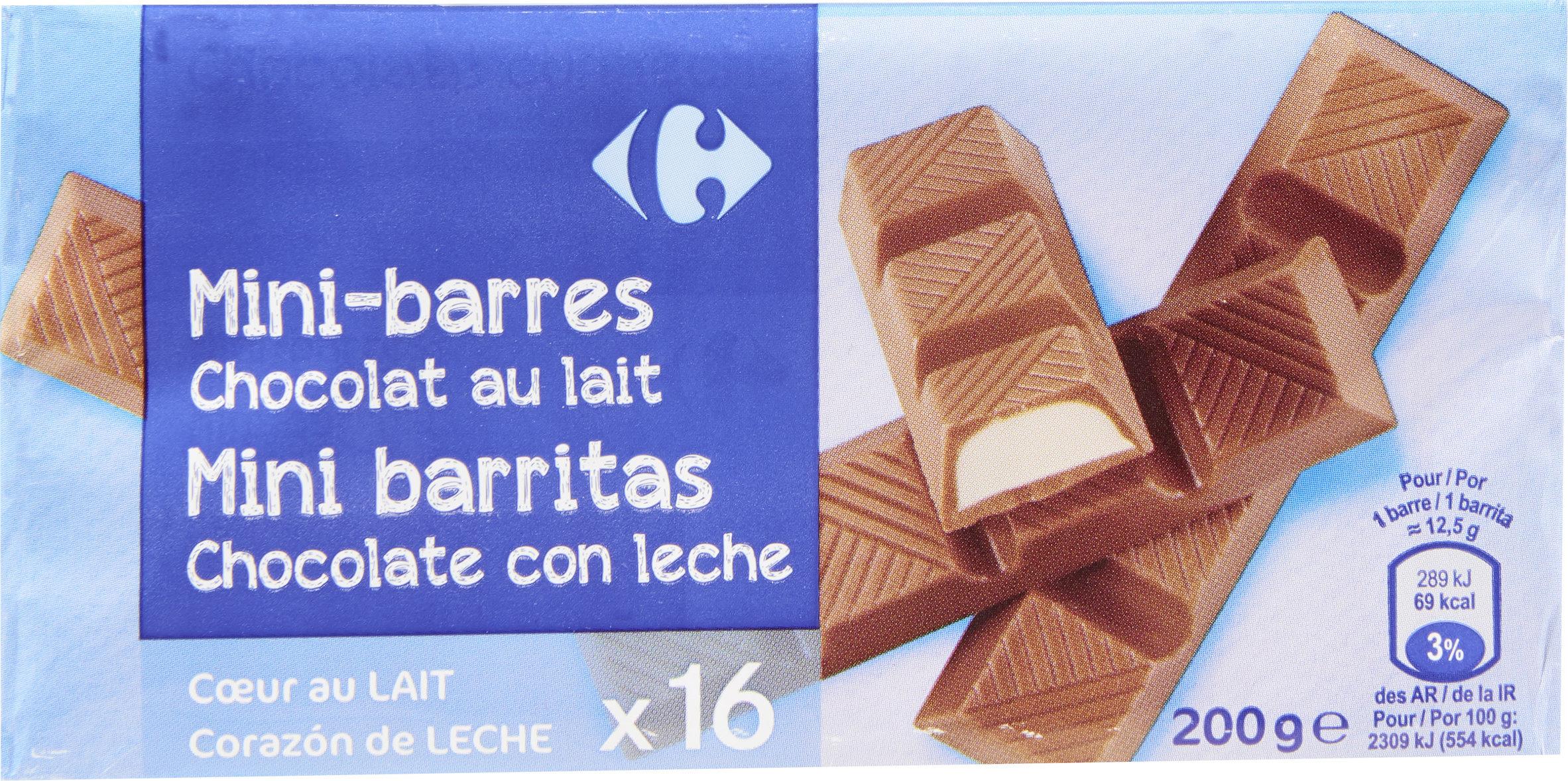 Mini barres Chocolat au lait - Producto - fr