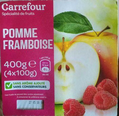 Pomme Framboise  Compotes allégées en sucres * - Produit - fr