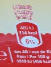 Le Petit Beurre - Nutrition facts - fr