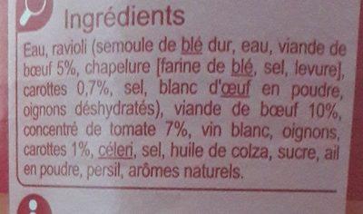 Ravioli à la Bolognaise - Ingredients - fr