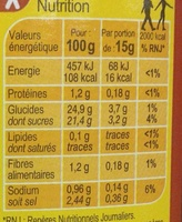 Ketchup Hot - Informations nutritionnelles - fr