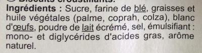 Cigarettes - Ingredients - fr