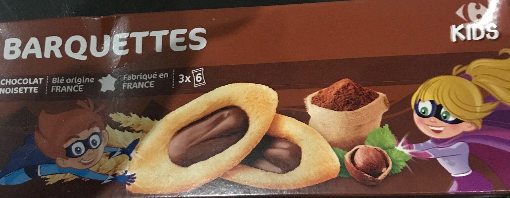 Barquettes chocolat noisette - Product - fr