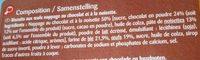 Barquettes chocolat noisette - Ingredients - fr