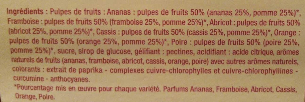 Pâtes de fruits - Ingrediënten - fr