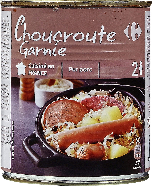 Choucroute garnie Pur Porc - Product - fr
