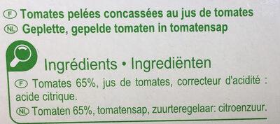 Pulpe de tomates - Inhaltsstoffe