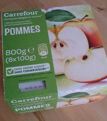 Pomme Compotes allégées en sucres* - Produit - fr