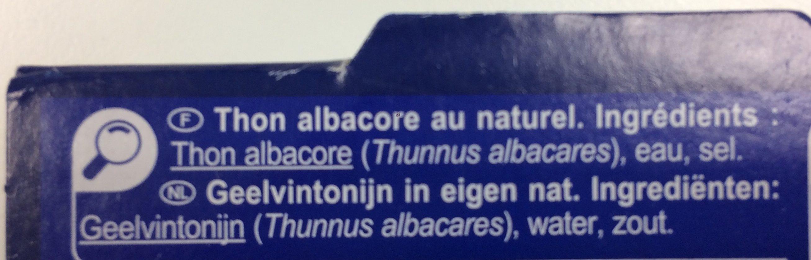 Thon albacore En tranches - Ingredienti - fr