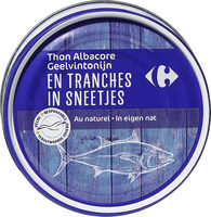 Thon albacore En tranches - Product - fr