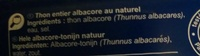Thon albacore En tranches - Ingredients - fr