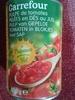 Pulpe de tomates pelées en dés au jus - Produit