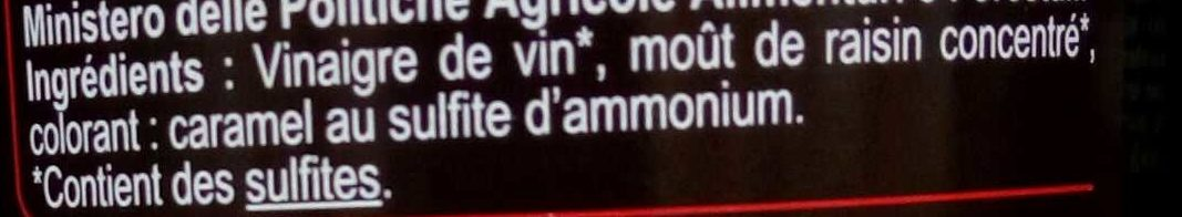 Vinaigre balsamique de Modène - Ingrédients - fr