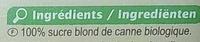 Sucre Blond de canne Morceaux - Ingrédients - fr