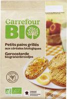 Petits pains grillés aux céréales biologiques - Produit