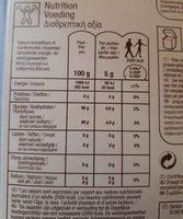 Sucre de canne bio complet en poudre - Nutrition facts