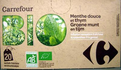 Infusion Menthe douce et thym Bio Carrefour - Product - fr