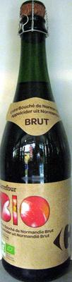Cidre bouché de Normandie IGP Brut (4,5 % vol.) Bio - Produit