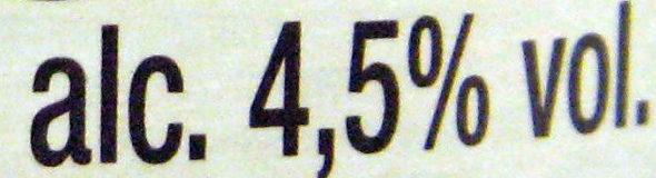 Cidre bouché de Normandie IGP Brut (4,5 % vol.) Bio - Informations nutritionnelles