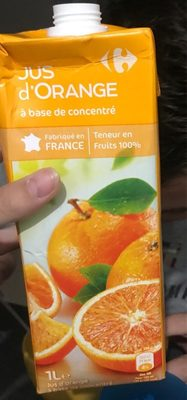 Jus d'Orange à base de concentré - Produit
