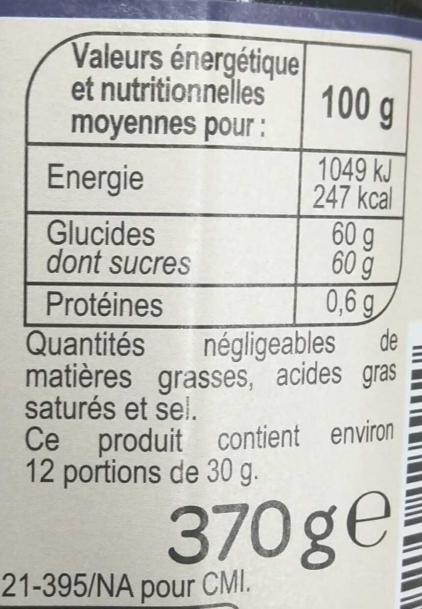 Mûre - Nutrition facts