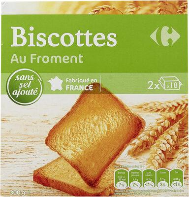 Biscottes Au Froment sans sel ajouté - Product - fr