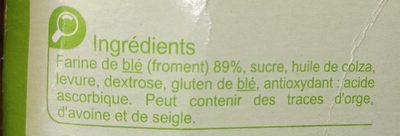 Biscottes Au Froment sans sel ajouté - Ingredients - fr