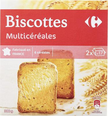 Biscottes multicéréales - Produit - fr