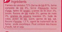 Biscottes multicéréales - Ingrédients - fr